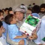 Yesterday with IDPs in Bannu. My heart went out to these innocent children displaced from their homes in NWA. http://t.co/mGN5FFecTQ