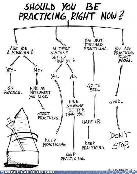 "A flow chart for musicians: ""Should you be practicing right now?"" http://t.co/XAr02xqKfn"