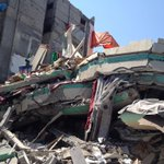 #Hamas leader Ismael #Haniya house destroyed for the 1st time in #Gaza http://t.co/XSmI506gjY