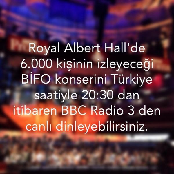 BİFO'nun #BBCPROMS konserini Türkiye saatiyle 20:30 dan itibaren @BBCRadio3 den canlı dinleyebilirsiniz. http://t.co/QRANv6F0LA