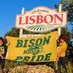 Bison Pride Flag Project: Lisbon, ND (pop. 2,157). The city of Lisbon has been claimed for Bison Nation! #BisonPride http://t.co/4IB1ZFy6aE