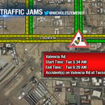 #TRAFFICJAMS: Crash on VALENCIA at TUCSON BLVD. Alternates can be Bilby/Country Club. #Tucson http://t.co/ImUtJkV6qm