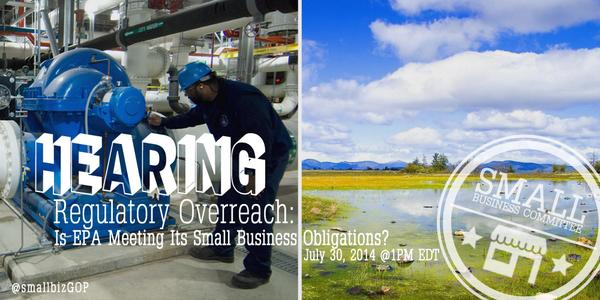Is #EPA meeting its #smallbiz obligations? Tomorrow @ 1pm we hear from the Deputy Adm...http://t.co/kpCYjWxn0g #pjnet http://t.co/wKblPnEDvZ