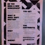 RT @CitizenCotto: #Boston @MakeShiftBos is accepting new members this Fall. #CheckItOut http://t.co/dtvliDX0Kv
