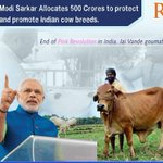 Thank you @narendramodi ji for granting 500 crores for #GauGram project for saving and promoting Indian cow Breeds http://t.co/K2FeDnOF3I