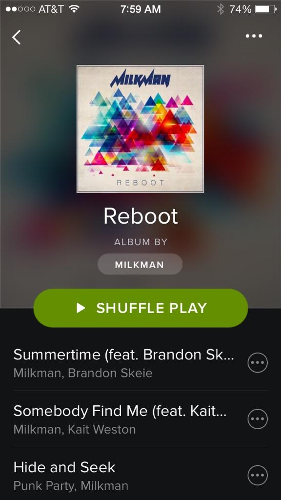 My new EP Reboot is officially out now on @SpotifyUSA!!!! Everybody go put it on repeat!! http://t.co/3tK4Za5fkZ