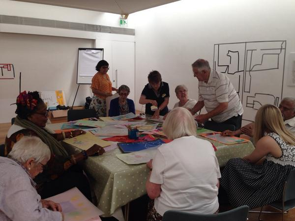 RT @DulwichGallery: The management team are busy curating their #FullOfLife installation in time for #OlderPeoplesDay http://t.co/XY8CUpwBjw