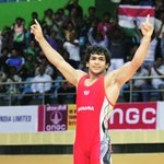 RT @IExpressSports: BREAKING #CWG2014: #wrestling- Amit Kumar wins GOLD in his 57kg bout after beating Nigerias Welson #IndiaAtCWG http://t.co/dveS3CNLVp