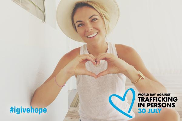#igivehope: @SerindaSwan from @GracelandTV showing her support for World Day against Trafficking in Persons (30 July) http://t.co/2mzF7DPRBg
