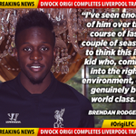 Brendan Rodgers reveals his delight with the capture of Divock Origi and explains his potential… #OrigiLFC http://t.co/dvIZIxyCKb