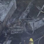 RT @LANow: Fatal crash on 110 Freeway near downtown causes small roadside fire http://t.co/vp4APCtiML (Photo from @KTLA) http://t.co/055tcB8gAn