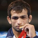 RT @Sports_NDTV: #Glasgow2014: Indian wrestlers bag three golds with wins for Amit, Vinesh and Sushil. Updates: http://t.co/y30BGSfEui http://t.co/SB8P18zsz2