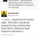 "Yooo Jon Germain agega! ???????????? ""@fTa_EnoS: Jon Germain actually started finding a long time ago.Hes got links too? http://t.co/NGaznxsKBG"""
