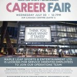 RT @MapleLeafs: Looking for a service oriented position at MLSE? Attend the MLSE Career Fair tomorrow at Air Canada Centre! #TMLtalk http://t.co/tGknsEBMGz