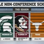 Notable non-conference schedules this season. http://t.co/OcilisRsZ2