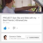 GO WATCH CAMERONS NEW YOUTUBE VIDEO & GIVE IT A THUMBS UP https://t.co/aRFDo5ASdu #ShareaCokeWithCam http://t.co/nbivcfMn71 ???????????? x157