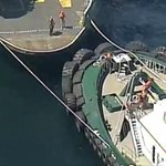 A pic from @kiro7chopper above the stuck ferry. Watch LIVE >> http://t.co/Dr5JrNy2xi http://t.co/PZ9rssFDJk