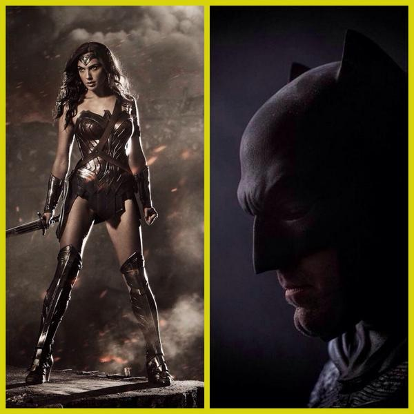 Did u see @ZackSnyder's tweet pic reveals of the Gal Gadot as Wonder Woman and Ben Affleck as Batman?