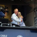 Vin Scully and wife Sandra after the announcement that Vin will return to the #Dodgers for his 66th season... # http://t.co/JAnrsFd4Rk
