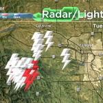 E.C. radar not operational but its raining with lightning west of Calgary and its moving this way. #yyc #abstorm http://t.co/LpANQKDRa0
