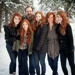 Família de ruivas, genética forte da mãe - http://t.co/O5D8fbUyra