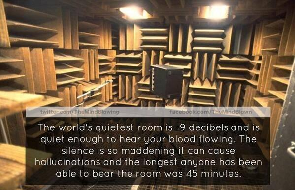 The World's Quietest Room! http://t.co/Fyi5yyDuyA