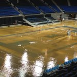 Water main break floods historic Pauley Pavilion basketball court at @ucla ...RT @laurenm: http://t.co/6DMDzoHEt3 #ucla #njmorningshow