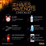 RT @mayawatson: This is missing wine. ????????????RT @OWNTV: Just 30 minutes till the #HAHNFinale. Do you have your checklist ready? #HAHN http://t.co/IkvXX15l53