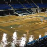 RT @GoodmanESPN: Pauley Pavilion was renovated a couple years ago. Look at it right now. Court likely ruined. http://t.co/mJuEUzDLXY