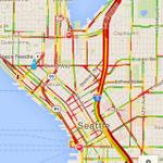 #Traffic is once again ruby-red in the Emerald City tonight. #Seattle #summer #ick http://t.co/wQMki2FDAj