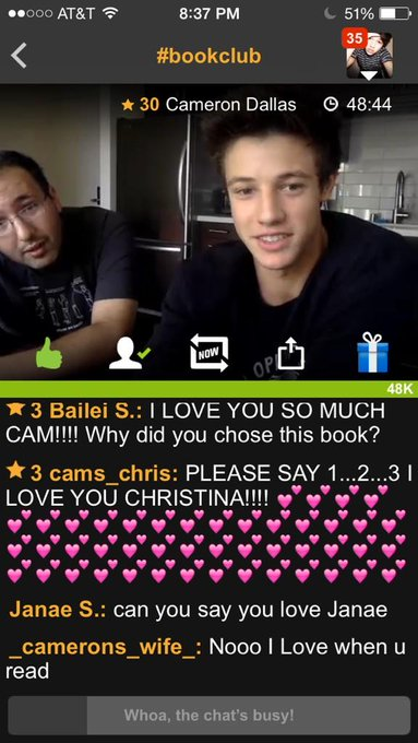 You are getting better at reading every week☺️#CamsBookClub #CamsBookClub #CamsBookClub #CamsBookClub @camerondallas http://t.co/6XiRIn9nYV