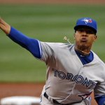 Marcus Stroman is doing his best to help the #Jays protect their 3-1 lead. Follow along here: http://t.co/al4Lo8oFUX http://t.co/6ve86YgOlj