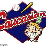 Caucasians T-shirt mocking Cleveland Indians logo a hot seller on reserves http://t.co/wKY3VXqiU5 http://t.co/ROXUImHZN8