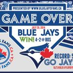 THERE IT IS #BLUEJAYS FANS! Casey has another save, the Jays take it 4-2 and were 58-50! #GoJaysGo #DriveToOctober http://t.co/eFiU12ZQfl