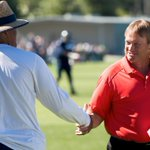 Jon Gruden and Coach Ken Norton, Jr. 2014 Seattle Seahawks Training Camp http://t.co/8BRPi2WUAY