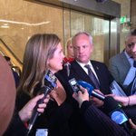 KJ talks to media with Michal Smith at her side sometimes whispering suggested #turc answers http://t.co/KChMSMDACm