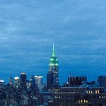 Eid Mubarak from NY where the Empire State glows green for the Holiday http://t.co/Kd2XuL8PG2