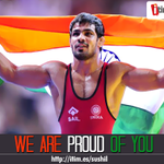 #SushilKumar beat Pakistans Qamar Abbas to win yet another gold at the #CWG2014.Wish him here-http://t.co/tAfkhJcxMN http://t.co/mufO3naLwt