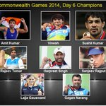 RT @DDNational: Commonwealth Games 2014, Day 6 Champions... #CWG2014 #glascow2014 http://t.co/ePoJkhuj0c