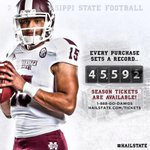 RT @HailState: A new record is set with every season ticket purchase. Get yours now! 1-888-GO-DAWGS or http://t.co/A7bW8VPhfy. http://t.co/D1InOl0X1u
