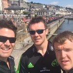 RT @Team4Timberland: Arrived in cobh. What a turn out. Boat race and all!!! #MunRace14 @Munsterrugby http://t.co/wZxs0qMRnl
