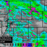 NWS Doppler Radar 24 Hour Storm Total Rainfall Estimate for northeastern Colorado ending 7/30/14 at 5:14AM. #cowx http://t.co/VhjJJ4xHKU