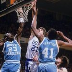 84 Duke win in Greensboro, yes? MT @JayBilas @Iconic_Sports Jay Bilas fights for rebound vs. Jordan, Sam Perkins. https://t.co/CGcdvRAdp7