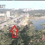 Here we go...traffic lined up across the Ross Island Br in-bound due to the CLOSURE of Caruthers at 4th. #pdxtraffic http://t.co/xWwFNtgjMT