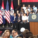 RT @abhammond128: The presidential seal is on the podium. Less than an hour until #Obama #KansasCity speech. #ObamaInKC http://t.co/ficPP22SHs