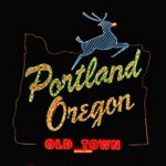 The type in the #Portland #Oregon sign is done manually. First to guess what font its *inspired* by wins swag! http://t.co/uB97b7VYff