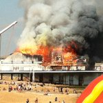 RT @KSCourier: Fire at Eastbourne pier began in amusement arcade, East Sussex fire crews are there now: http://t.co/bxL0PzJ6ax http://t.co/joT0Ee8afB