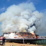 RT @PeteMcIntosh: Amazing pictures of #Eastbourne pier fire from @pauljwpb - the latest now on @sovereignfmnews with @GeorgieBirch21 http://t.co/Ncy5e42UQ8