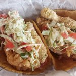 SHARKNA-DOS TACOS: Dos Equis-battered shark, slaw, fried avocado + pico on corn tortillas. #ZBoftheWeek #sharknado http://t.co/WKn9o7Ils4