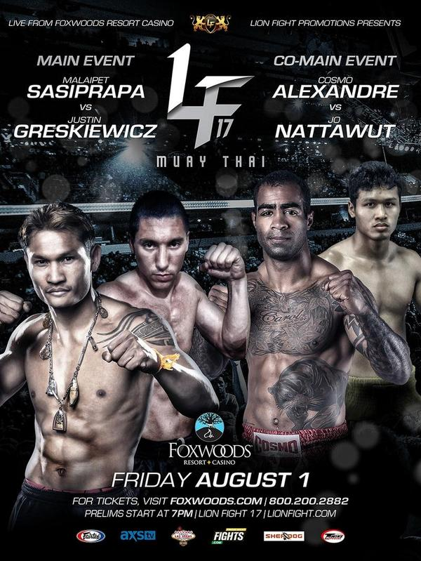 Don't forget Lion Fight the biggest Muay Thai show in America on the east coast!Friday August 1 Foxwoods. #muaythai http://t.co/DiGvjjNOJo
